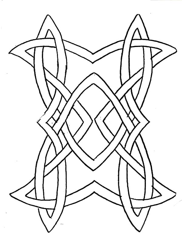 celtic knot design cross coloring pages - Celtic Knot Coloring Pages