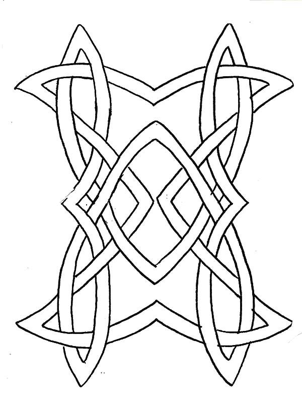 Celtic Cross, : Celtic Knot Design Cross Coloring Pages