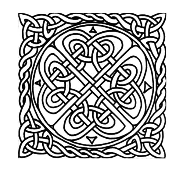 celtic knot patterns celtic cross coloring pages - Celtic Coloring Pages