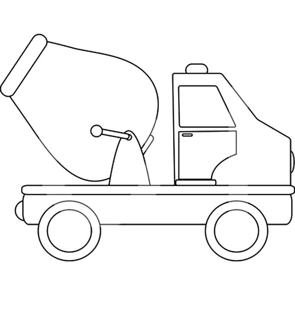 Car Transporter, : Cement Truck Car Transporter Coloring Pages