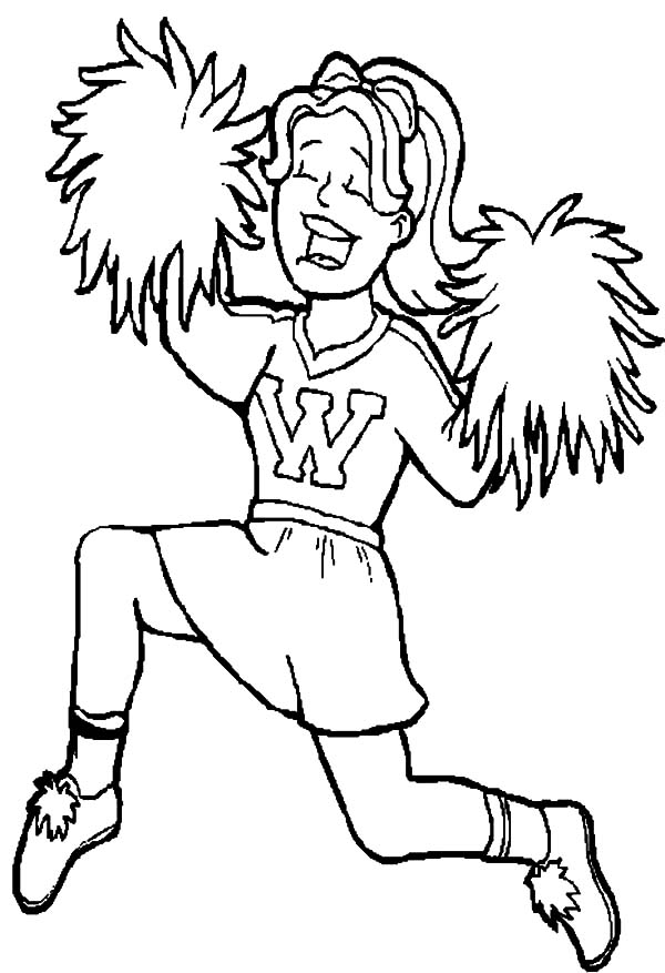Cheerleader, : Cheerleader Beautiful Choreography Coloring Pages