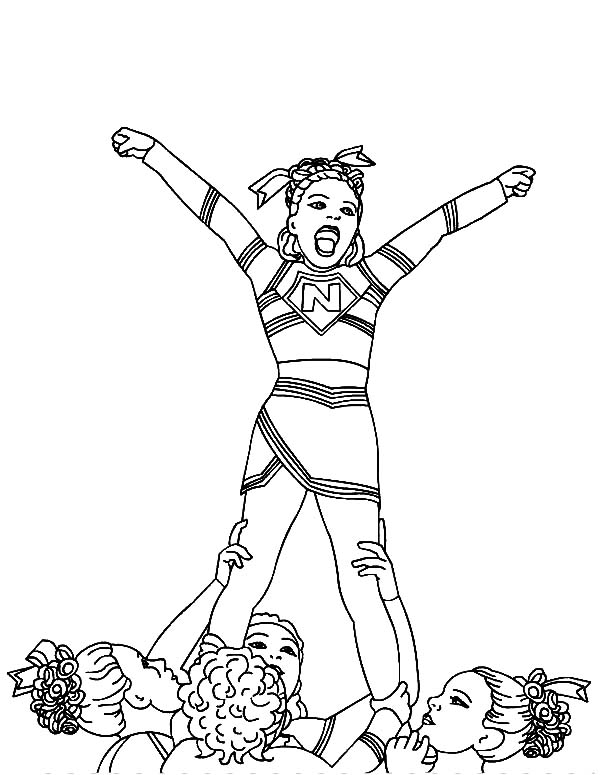 Cheerleader won cheerleading competition coloring pages