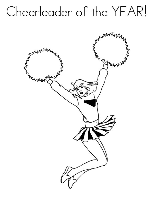 Cheerleader, : Cheerleader of the Year Coloring Pages