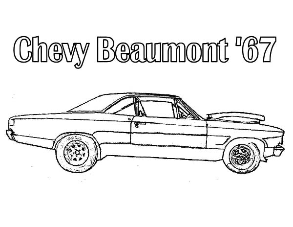 chevy beaumont muscle cars coloring page car picture