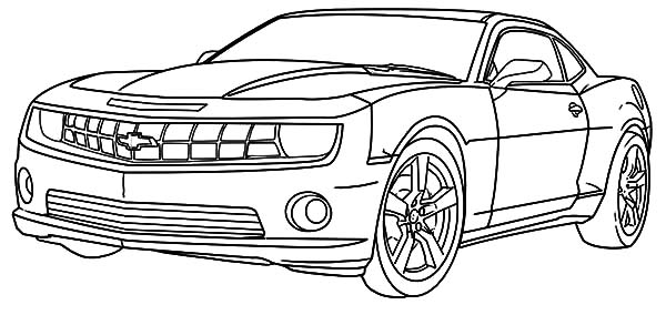 chevy camaro cars coloring pages