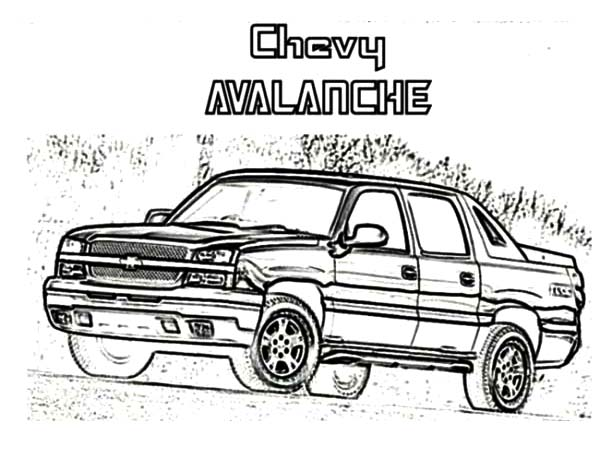 chevy cars truck coloring pages