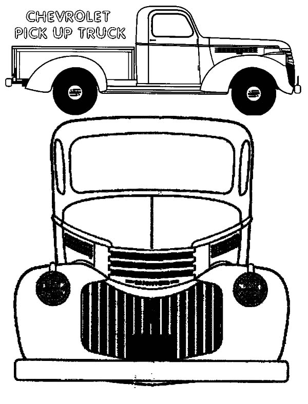 Chevy Cars, : Chevy Cars Pick Up Truck Type Coloring Pages