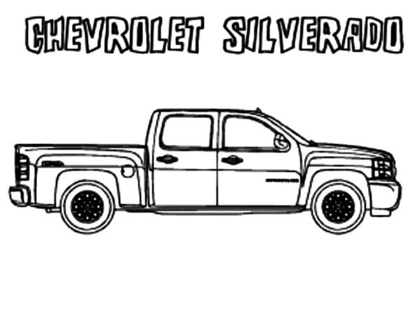 Chevy Cars, : Chevy Cars Silverado Coloring Pages