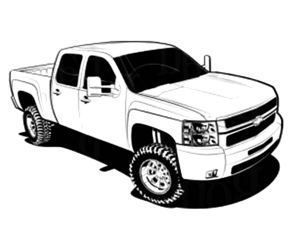 Chevy Cars Truck Coloring Pages | Best Place to Color