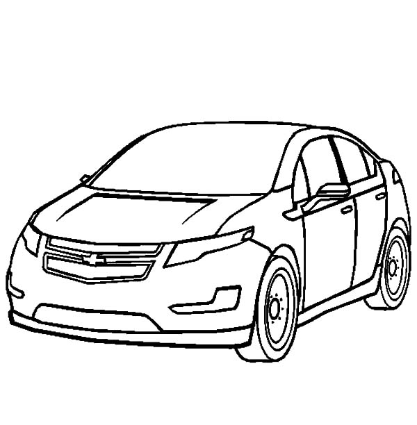 Chevy Cars, : Chevy Cars Volt Coloring Pages