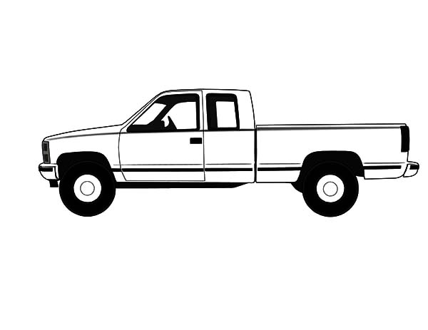 chevy truck coloring pages sketch coloring page