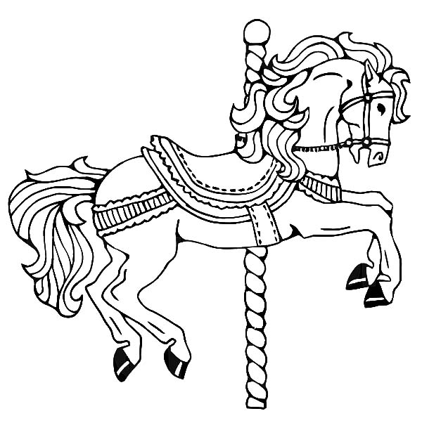 Childhood Memory Carousel Horse Coloring Pages