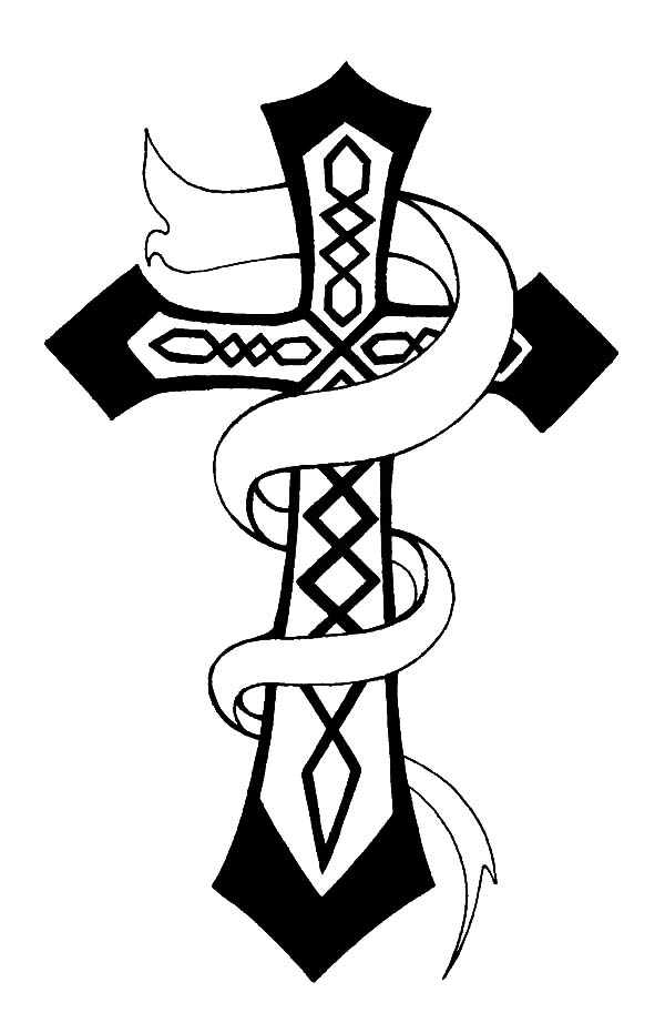 Celtic Cross, : Christian Celtic Cross Coloring Pages