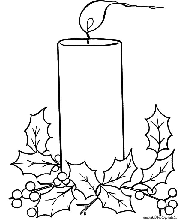 Candle coloring pages printable ~ Candle Light in Night Coloring Pages | Best Place to Color