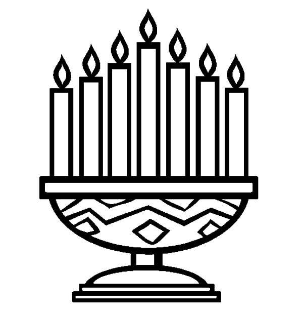 Candle, : Church Candle Coloring Pages