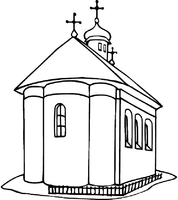 Church and Shining Cross Coloring Pages Best Place to Color