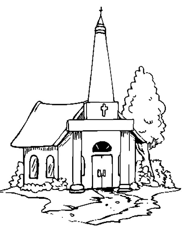 Church, : Church People with Faith Coloring Pages