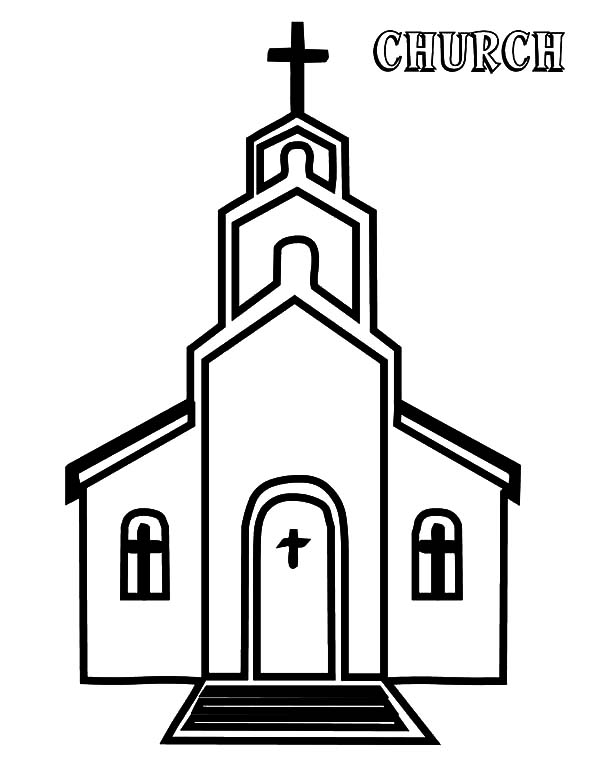 Church, : Church Picture Coloring Pages