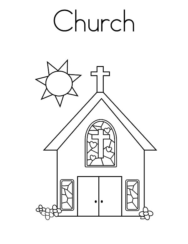 Church Tower Bell Coloring Pages