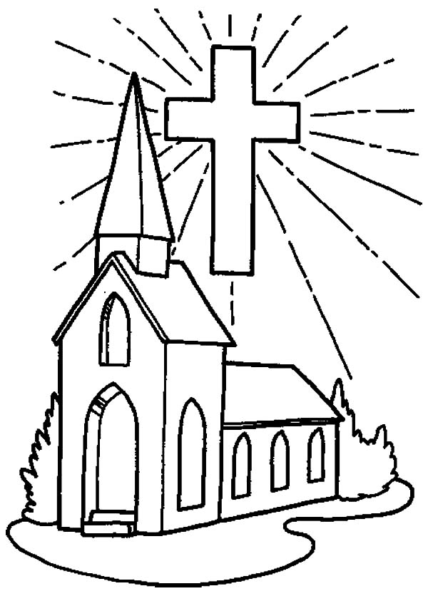 Drawing Church Coloring Pages Drawing Church Coloring