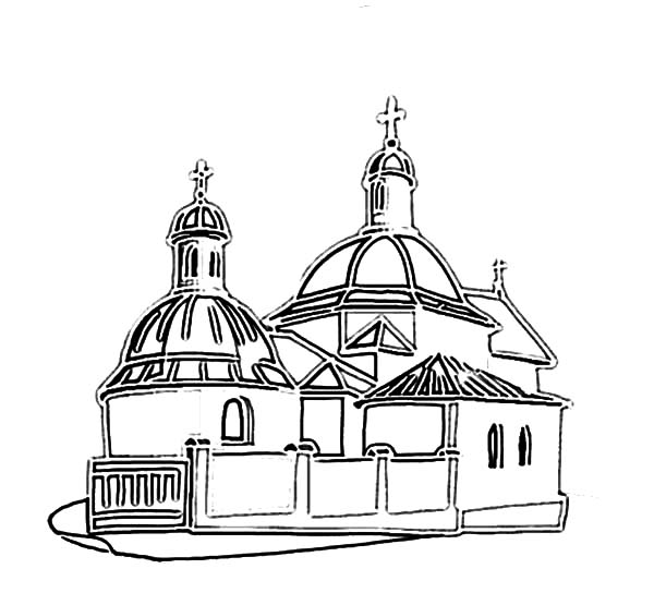 Church, : Church in Ukrain Kiev Coloring Pages