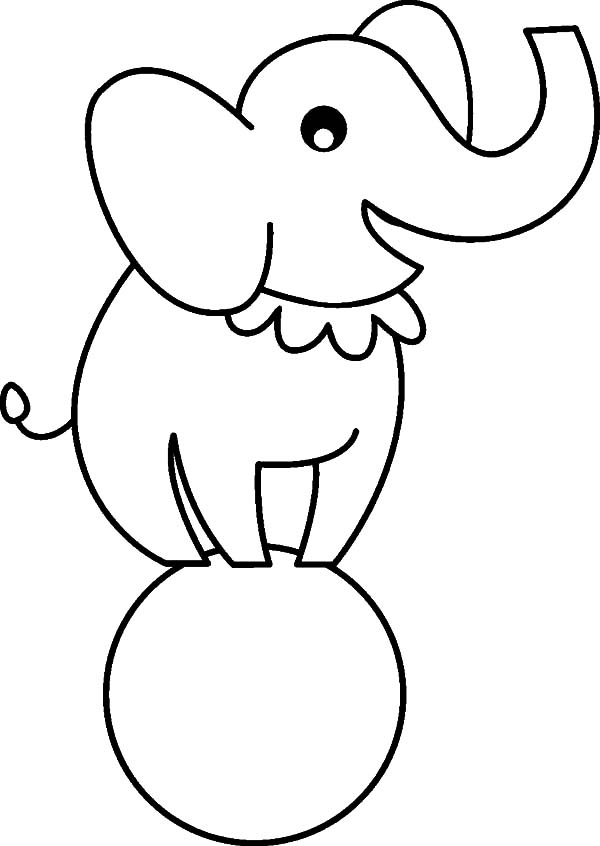 C Is For Circus Elephant Coloring Pages