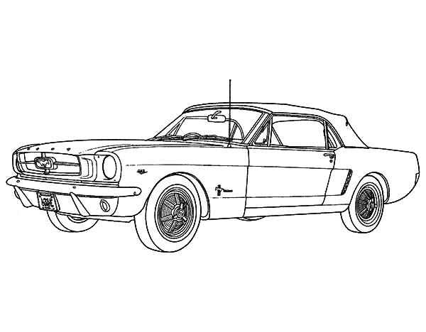 Coloring Pages Mustang Car : Ford mustang car coloring pages best place to color