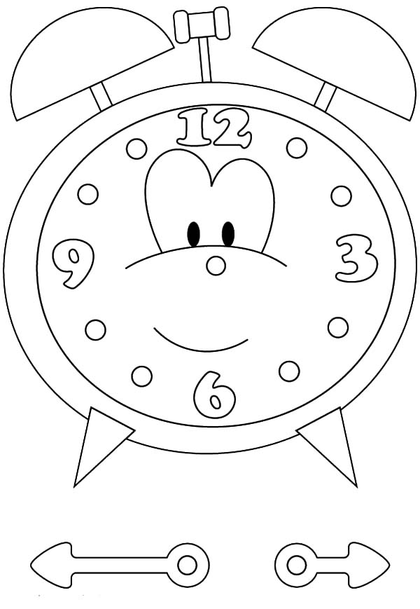 Clock, : Clock Coloring Pages