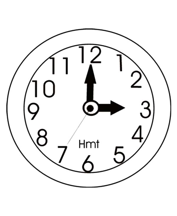 Clock, : Clock Image Coloring Pages