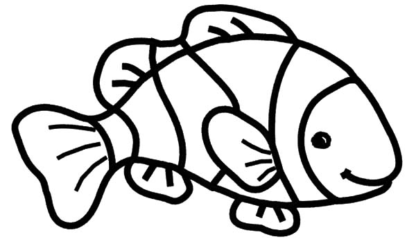 Clown fish coloring pages best place to color for Free coloring fish pages