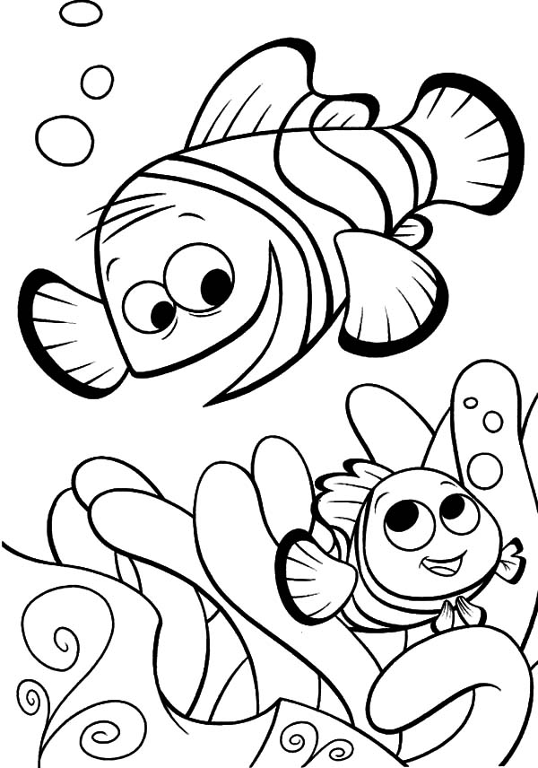 Finding nemo fish coloring pages coloring pages for Finding nemo coloring pages free