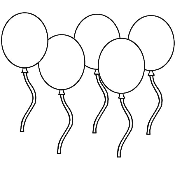 counting how many balloons coloring pages