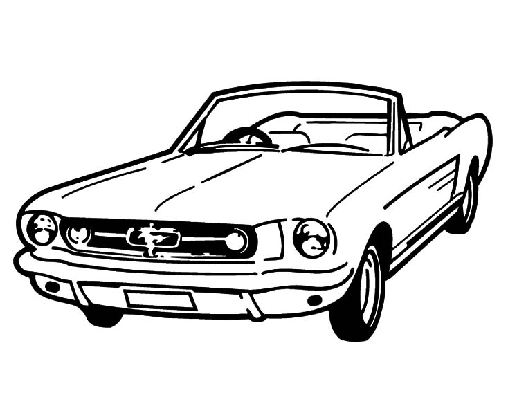 Car Mustang, : Coupe Car Mustang Coloring Pages