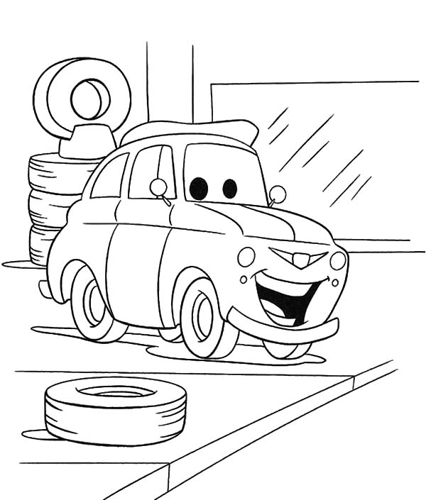 Car Tire, : Disney Car Tire Coloring Pages