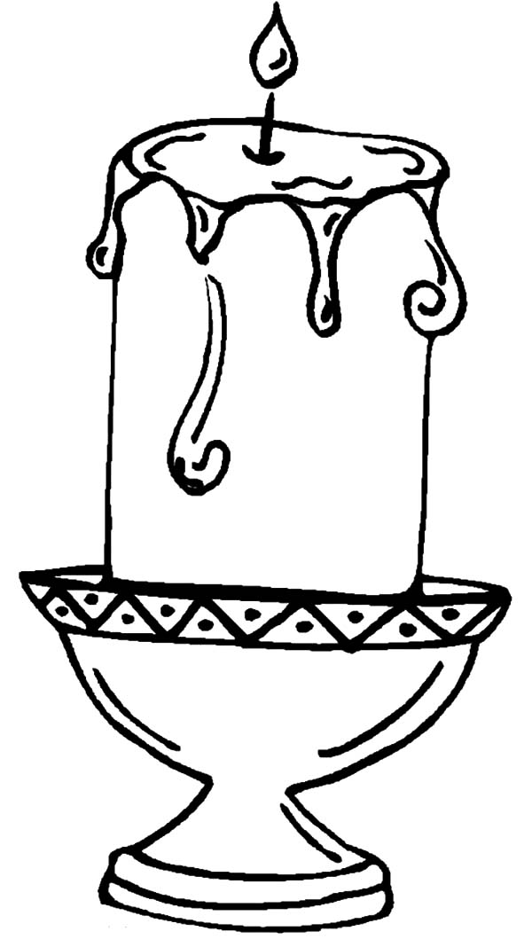 Candle, : Drawing Candle Coloring Pages