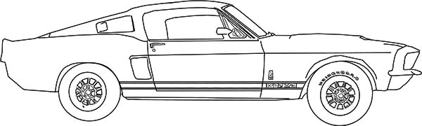 Car Mustang, : Drawing Car Mustang Coloring Pages
