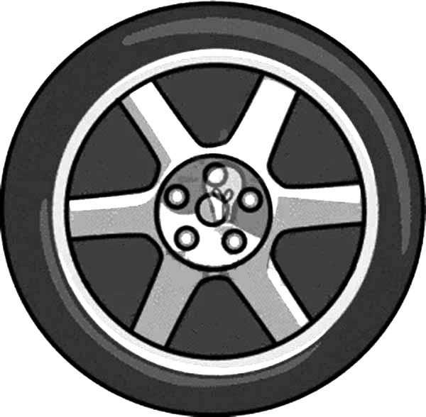 Car Tire is Flat Coloring Pages