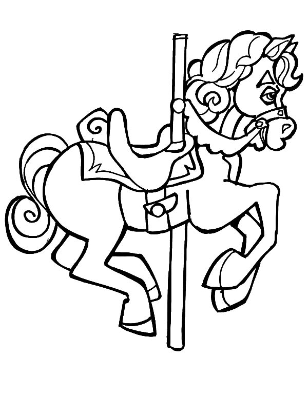 Carousel Horse, : Drawing Carousel Horse Coloring Pages
