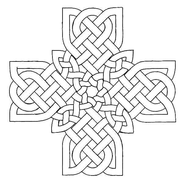 Celtic Cross, : Drawing Celtic Cross Coloring Pages