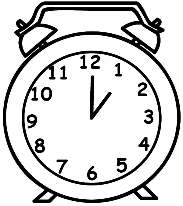 Drawing Clock Coloring Pages