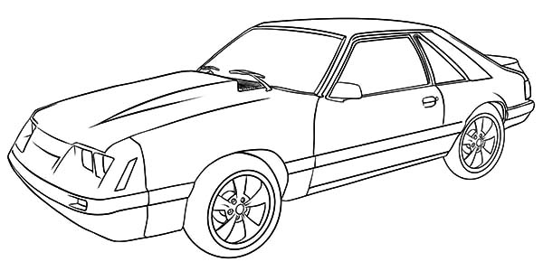 Car Mustang, : Drawing Mustang Car Coloring Pages