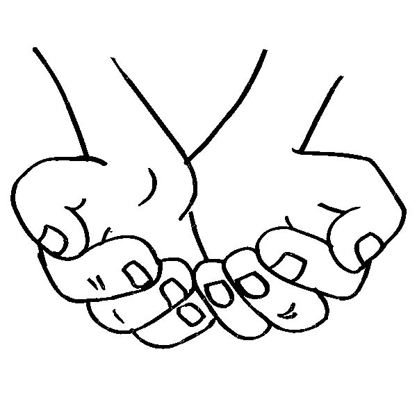Hands, : Empty Cupped Hands Coloring Pages