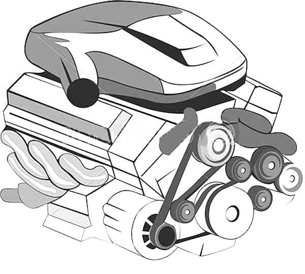 Engine Car Parts Coloring Pages | Best Place to Color