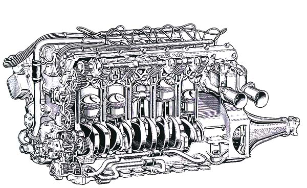 Car Parts, : Engine Large Car Parts Coloring Pages