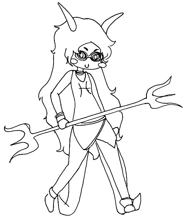 Trollz, : Evil Witch Trollz Coloring Pages