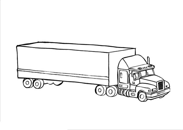Car Transporter, : Expedition Car Transporter Coloring Pages