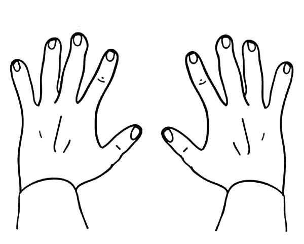 Drawing Hands Coloring Pages