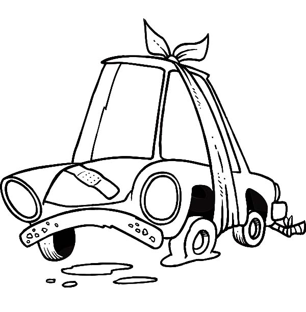 Car Tire, : Flat Car Tire Coloring Pages