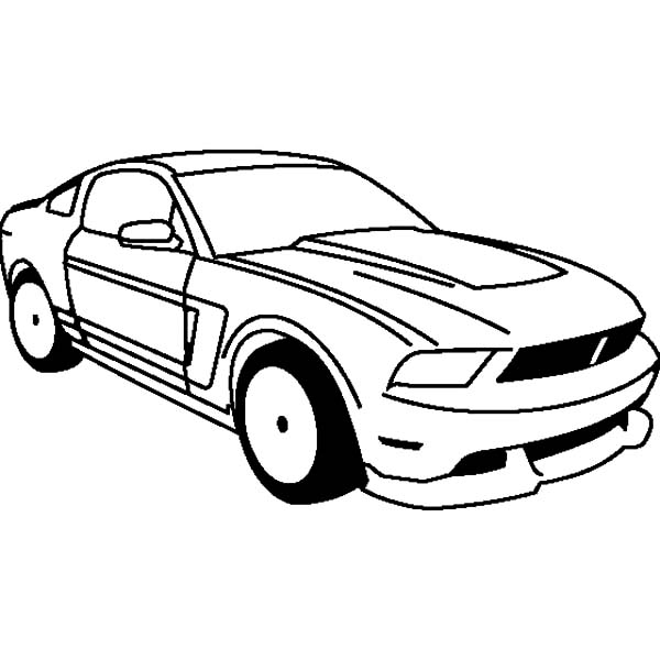 Car Mustang, : Ford Boss 302 Mustang Car 1969 Coloring Pages