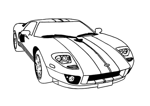 ford gt car mustang coloring pages - Mustang Coloring Pages